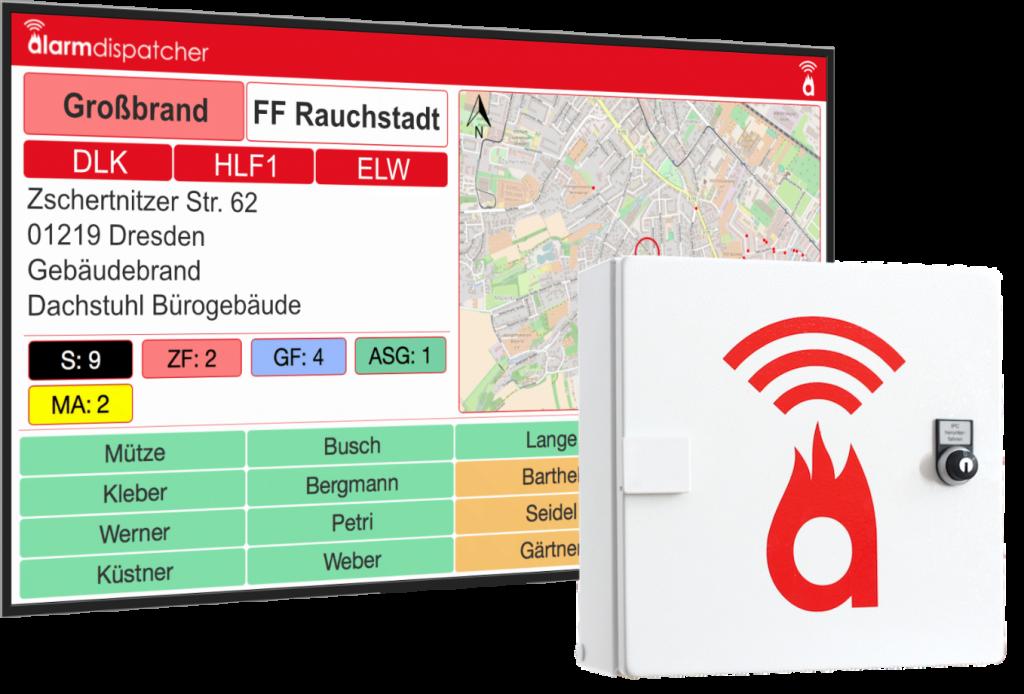Alarm Dispatcher Box und Monitor